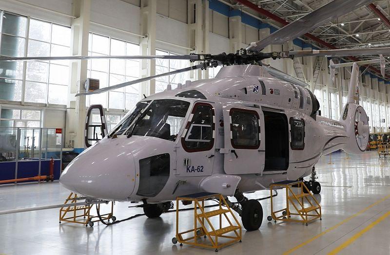 该工厂开始生产Ka-62直升机在滨海边疆区